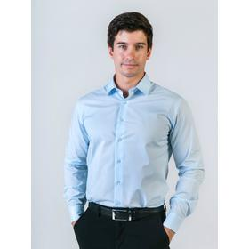 Рубашка мужская, рост 182-186, размер 42, цвет голубой Ош