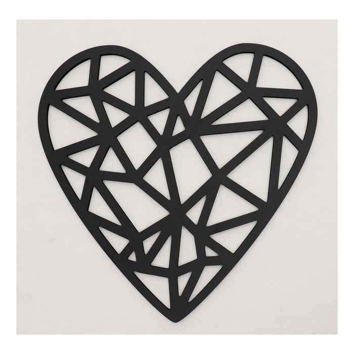 Декоративное панно деревянное Сердце 29х2934х34см