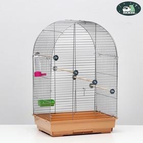 Клетка для птиц 'Пижон' №101, хром , укомплектованная, 41 х 30 х 65 см, бежевая Ош