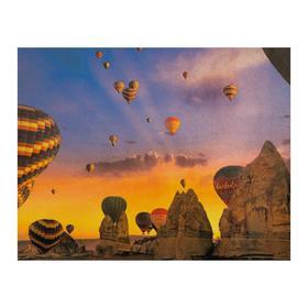 Роспись по холсту «Каппадокия» по номерам с красками по 3 мл+ кисти+инстр+крепеж, 30 × 40 см