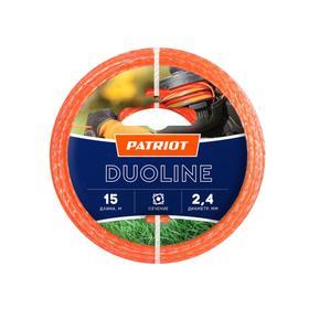 Леска PATRIOT Duoline, d=2.4 мм, 15 м, скрученный квадрат, двухцветная