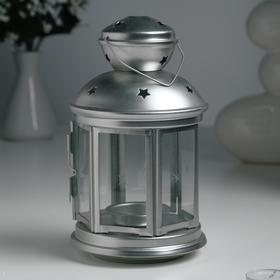 """Подсвечник """"Фонарь"""" для чайной свечи РОТЕРА, 21 см, стальной"""