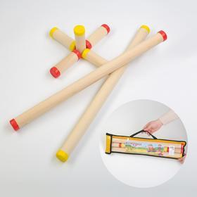 Игра 'Городки', берёза, d=3.5 см, 3 см, l=10.8 см, 56.3 см, чехол микс Ош