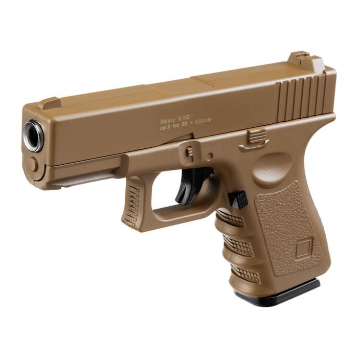 Пистолет пружинный Galaxy Colt G.15D, цвет песочный, 6 мм