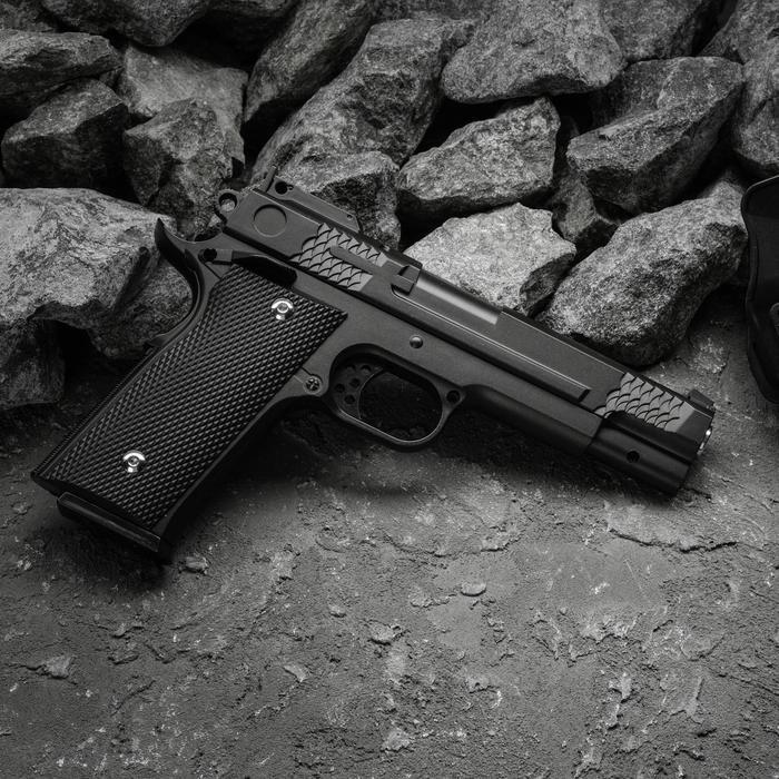 Пистолет пружинный Galaxy Colt G.20+, с кобурой, цвет черный, 6 мм