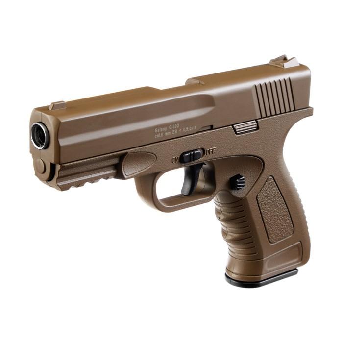 Пистолет пружинный Galaxy Colt 1911 G.39D, цвет песочный, 6 мм