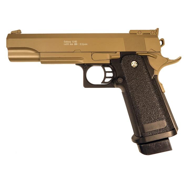 Пистолет пружинный Galaxy Colt Hi-Capa G.6D, цвет песочный, 6 мм
