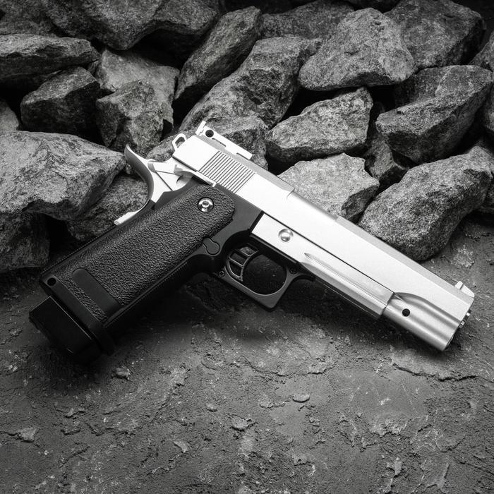 Пистолет пружинный Galaxy Colt Hi-Capa G.6S, цвет серебристый, 6 мм