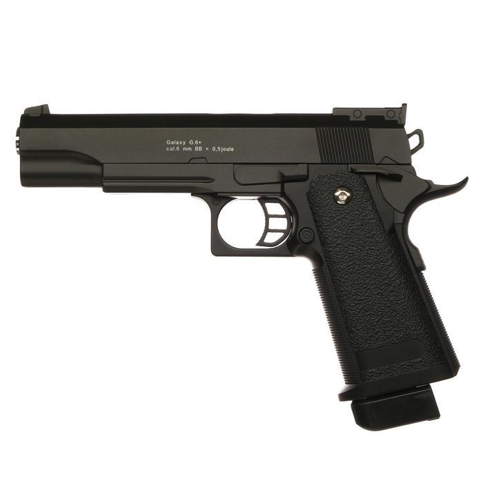 Пистолет пружинный Galaxy Colt Hi-Capa G.6+, цвет черный, 6 мм
