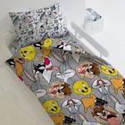 """КПБ 1.5 """"Looney Tunes"""" Луни Тюнс 143х215, 150х214, 70х70см 1шт, поплин 105гм хл100% - Фото 2"""