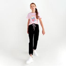 Футболка для девочки, цвет розовый, рост 134-140 см