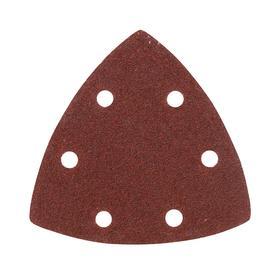 Треугольник шлифовальный на 'липучке' PATRIOT, 80х80х80мм, Р60, 6 отверстий, 5 шт. Ош