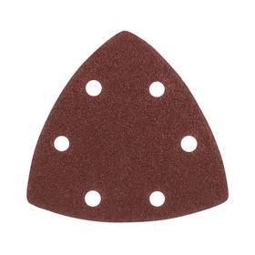 Треугольник шлифовальный на 'липучке' PATRIOT, 80х80х80мм, Р80, 6 отверстий, 5 шт. Ош
