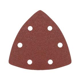 Треугольник шлифовальный на 'липучке' PATRIOT, 80х80х80мм, Р100, 6 отверстий Ош