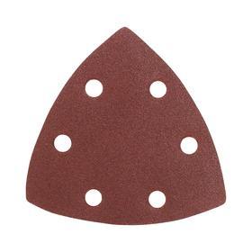 Треугольник шлифовальный на 'липучке' PATRIOT, 80х80х80мм, Р120, 6 отверстий Ош