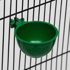 Миска для грызунов и птиц, 30 мл, зеленая Ош