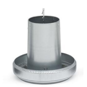 Кормушка бункерная 18 кг оцинкованная сталь без крышки для индеек