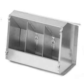 Кормушка бункерная для кроликов 3 секции металл с крышкой