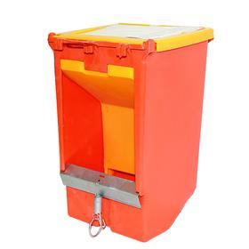 Кормушка бункерная для кроликов 1 секция пластик с пластиковой крышкой