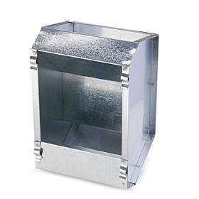 Кормушка бункерная для кроликов 1 секция металл 145 мм без крышки