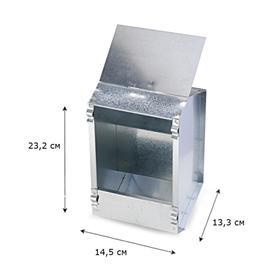 Кормушка бункерная для кроликов 1 секция металл 145 мм с металлической крышкой