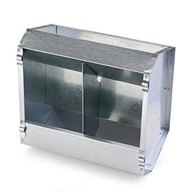 Кормушка бункерная для кроликов 2 секции металл 235 мм без крышки