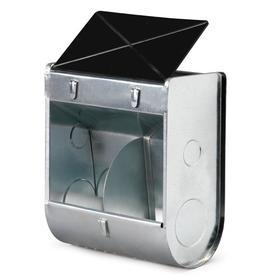 Кормушка бункерная для кроликов 2 секции металл с пластиковой крышкой