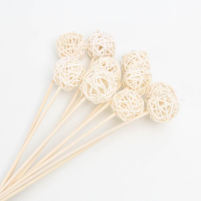 Эко-декор шарик ротанга Only for U, 40 см, 10 шт
