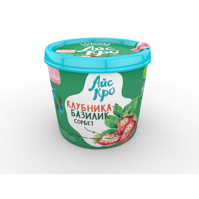 Мороженое сорбет «АйсКро», клубника-базилик, 75 г