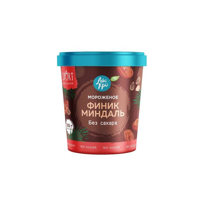 Мороженое «АйсКро» cливочное «Финик-миндаль», без сахара, 310 г
