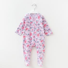 Комбинезон детский, цвет розовый/мишки, рост 68 см