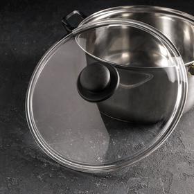 Крышка стеклянная безободковая Basic, d=28 см