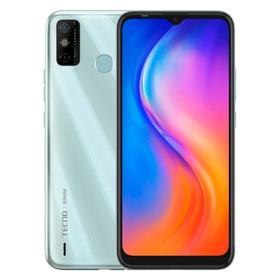 "Смартфон TECNO Spark 6 Go, 6.52"", IPS, 2 Гб, 32 Гб, 13 Мп, 5000 мАч, белый"