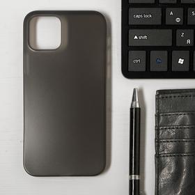 Чехол LuazON для телефона iPhone 12/12 Pro, пластиковый, тонкий, прозрачный черный