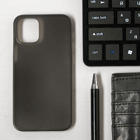 Чехол LuazON для телефона iPhone 12 mini, пластиковый, тонкий, прозрачный черный