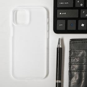 Чехол LuazON для телефона iPhone 12 mini, пластиковый, тонкий, прозрачный белый