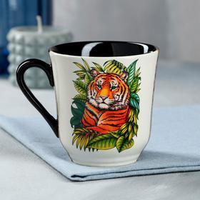 """Кружка """"Сумская"""", деколь, тигр, цветная, 0.35 л"""