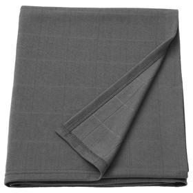 Плед ОДДХИЛЬД, 120x170 см, цвет темно-серый