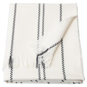 Плед СТИНАМАЙ, 130x170 см, цвет белый/темно-серый
