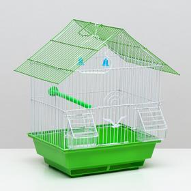 Клетка для птиц, 'Домик' 30 х 23 х 38 см, микс Ош