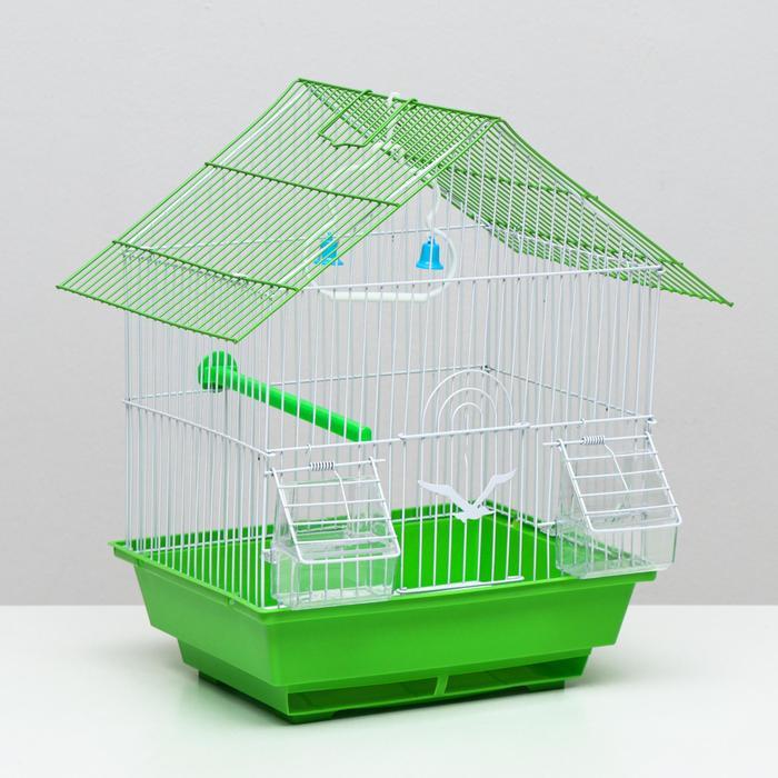 Клетка для птиц, Домик 30 х 23 х 38 см, микс