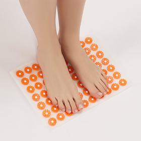 Аппликатор - коврик, 23 × 32 см, 70 модулей, цвет оранжевый/белый Ош