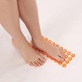 Аппликатор - коврик, 14 × 32 см, 40 модулей, цвет оранжевый/белый Ош