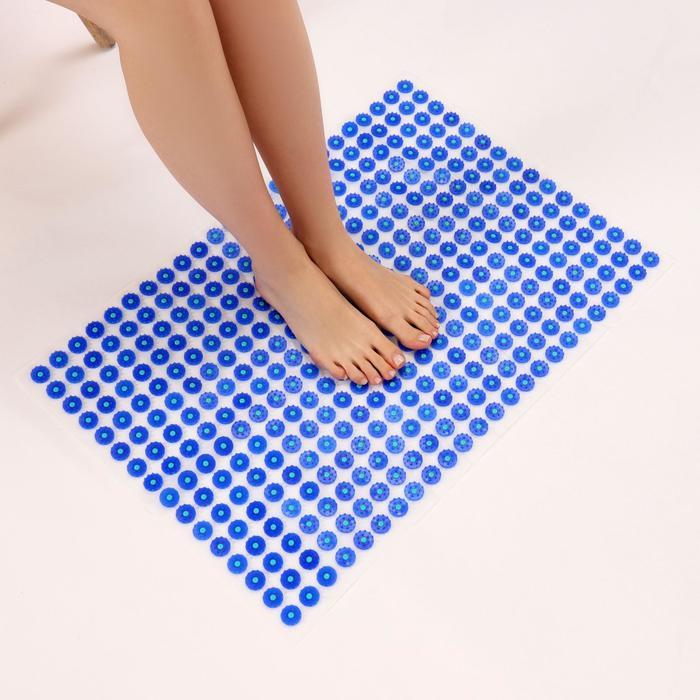 Аппликатор - коврик, 50 × 75 см, 384 модуля, цвет синий/белый