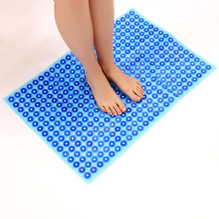 Аппликатор - коврик, 50 × 75 см, 384 модуля, цвет синий/голубой
