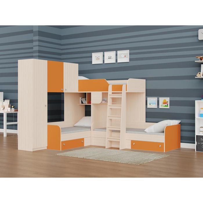Детский комплекс «Трио/1», цвет дуб молочный / оранжевый
