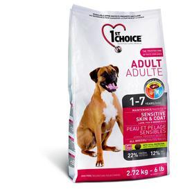 Сухой корм CHOICE для собак, чувствительная кожа/шерсть, ягнёнок с рыбой и рисом, 350 г
