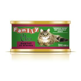 Консервы CLAN FAMILY для кошек, паштет из ягнёнка, 100 г