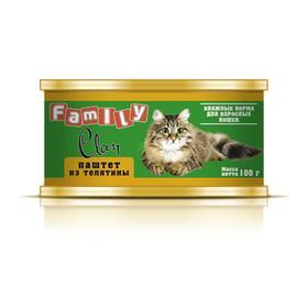 Консервы CLAN FAMILY для кошек, паштет из телятины, 100 г