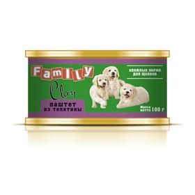Консервы CLAN FAMILY для щенков, паштет из телятины, 100 г